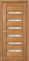 Межкомнатная дверь Дера Мастер 643 карамель стекло сатинато
