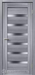 Межкомнатная дверь Дера Мастер 643 сандал серый стекло сатинато