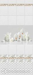 Стеновая панель ПВХ Novita Орхидея Белая (панно состоит из 4 шт)