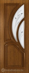 Межкомнатная дверь Румакс Карелия-2 Орех СТ матовое с рисунком