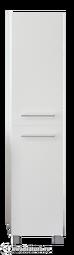Пенал 1Marka Соната 35Н 2 двери с бельевой корзиной Белый глянец