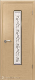 Межкомнатная дверь ВФД Рондо Светлый дуб, стекло