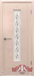 Межкомнатная дверь ВФД 8ДО5 Рондо Беленый дуб