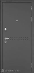 Дверь входная металлическая Бульдорс Mass 90 CR-4 Букле графит/Ларче шоколад (черный лакобель)