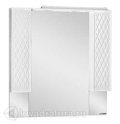 Зеркало-шкаф Домино 3D 100 с подсветкой  D37013HZ