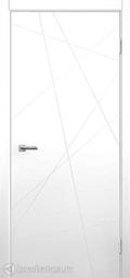 Межкомнатная дверь Дера Нордика 164 белая эмаль