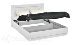 Двуспальная кровать «Амели» с подъемным механизмом (Белый глянец) без матраса ТР