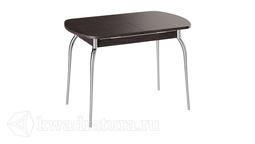 Стол обеденный с хромированными ножками Рио (Венге) ТР