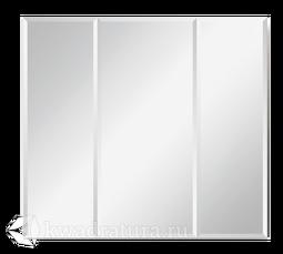 Зеркало 1Marka Соната 90 3 двери Белый глянец