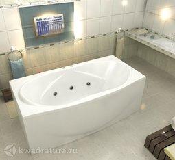 Акриловая ванна Бас Фиеста 194*90 БЕЗ ГИДРОМАССАЖА