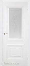 Межкомнатная дверь Румакс Дебют белая матовая со ст сатинат