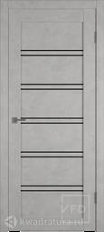 Межкомнатная дверь GreenLine Atum PRO X-28 Antic loft стекло черное