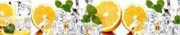 Кухонный фартук пластиковый Апельсины и Лёд (2м. / 3м.)