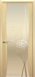 Межкомнатная дверь Океан Буревестник-2 с/о белое Одуванчик Беленый Дуб