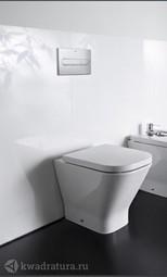 Система инсталляции Roca Active c унитазом приставным Roca Gap с сиденьем микролифт и кнопкой смыва хром 893109000