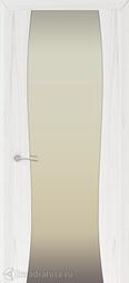 Межкомнатная дверь Океан Буревестник-2 ясень белый жемчуг с/о белое