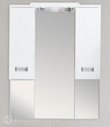 Зеркало Aqua de Marco Балтика белый, подсветка, 80 см