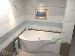 Акриловая ванна Бас Капри 170*80 БЕЗ ГИДРОМАССАЖА левая/правая
