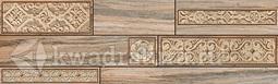 Бордюр для напольной плитки InterCerama BOSCO коричневый 50*15 см