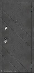 Дверь входная металлическая Феррони Бруклин Бетон пепельный