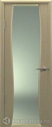 Межкомнатная дверь Океан Буревестник-2 беленый дуб с/о белое
