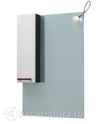 Зеркало-шкаф ЯМебель Капучино 65, венге/белый, левый (без светильника)