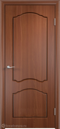 Межкомнатная дверь Дера Азалия ДГ итальянский орех