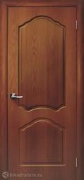 Дверь межкомнатная Дубрава Илона ПГ итальянский орех