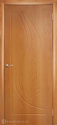 Дверь межкомнатная Дубрава Лилия ПГ миланский орех