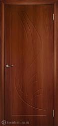 Дверь межкомнатная Дубрава Лилия ПГ итальянский орех