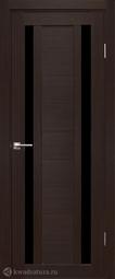 Дверь межкомнатная Дубрава Foret Тандем орех темный СТ черное