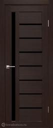Дверь межкомнатная Дубрава Foret Вертикаль орех темный СТ черное