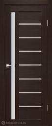 Дверь межкомнатная Дубрава Foret Вертикаль орех темный СТ матовое