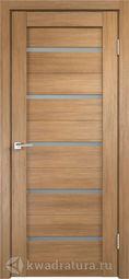 Межкомнатная дверь Velldoris (Веллдорис) Duplex дуб золотой, стекло мателюкс