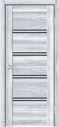 Дверь межкомнатная Velldoris (Веллдорис) XLINE 4 Клён Айс, стекло чёрное лакобель, без притвора