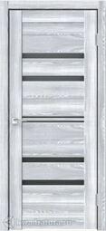 Дверь межкомнатная Velldoris (Веллдорис) XLINE 6 Клён Айс, стекло чёрное лакобель, без притвора
