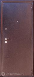 Дверь входная металлическая Зевс Z-4 медь/миланский орех