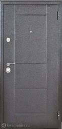 Дверь входная металлическая Форпост Квадро-2 Лиственница серая
