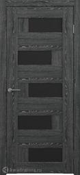 Межкомнатная дверь Фрегат (ALBERO) Гавана черное дерево, стекло черное