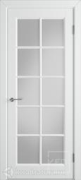 Межкомнатная дверь ВФД Гланта белая эмаль, со стеклом