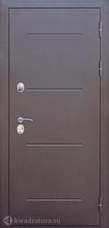 Дверь входная металлическая Феррони Isoterma Лиственница мокко Терморазрыв