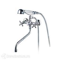 Смеситель для ванны с длинным изливом с керамическим дивертором Iddis Jeals JEASBL2i10