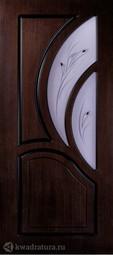 Межкомнатная дверь Румакс Карелия-2 ПО Морёный дуб со стеклом