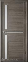 Межкомнатная дверь Фрегат (ALBERO) Кельн Серый кедр, стекло мателюкс