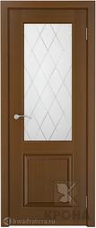 Межкомнатная дверь Крона Порто - 1 Орех ДО 1