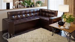 Скамья угловая со спальным местом Остин Венге цаво, кожзам коричневый