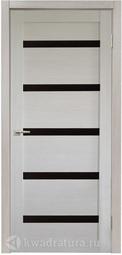 Дверь межкомнатная Дера Style Lite Стиль 5 лиственница кремовая стекло черное