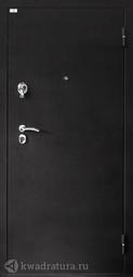 Дверь входная металлическая Лидер 1 черный шелк/венге