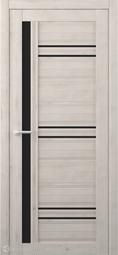 Межкомнатная дверь Фрегат (ALBERO) Невада Кремовый стекло черное