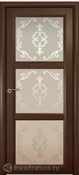 Межкомнатная дверь Океан Optima 3 Дуб шоколадный с/о Ажур